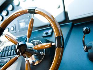 Rhein-Main Sportbootschulen Stockimage 13883989: Steering Wheel, Yacht