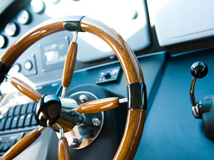 Rhein-Main Sportbootschulen Stockimage 13883989: Steering Wheel, Yacht