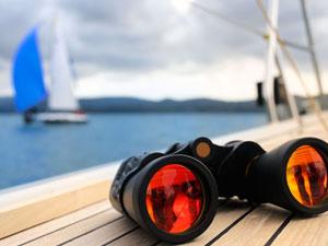 Rhein-Main Sportbootschulen Stockimage 7029449: Binocular, Yacht