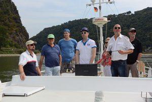 Teilnehmer beim Revierseminar auf der Orca oberhalb der Bank